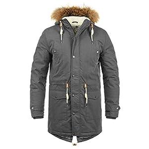 !Solid Dry Parka Herren Winterjacke Parka Mantel Lange Jacke gefüttert mit Kunst-Fellkapuze