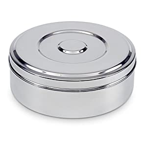 Zinel Stainless Steel Spice Box/Masala Dabba with 7 Comparments and Transparent Lid, 16cm 4