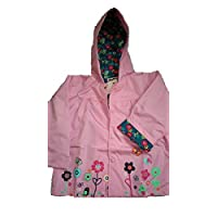 Girls Rain Coat Jacket Summer Hood Windbreaker Spring Mac Raincoat Age 1 to 6 Years - Pink