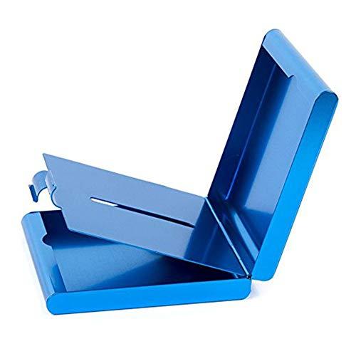 ToBeIT blau Zigarettenetuis aus Aluminium - Metall Etui Zigaretten/Zigaretten Kasten für 20 Stücke Zigaretten Metall-etui