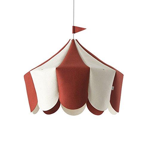 Buokids Lampe Circus E27, rouge, 44 x 42 x 38 cm
