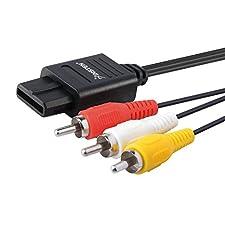 AV Composite Cable - Black (Nintendo Wii/64)