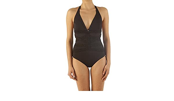 fd3b806938e91 LIU-JO BEACH costume intero tahiti v18070 j541622222 nero a8e primavera  estate  Amazon.it  Abbigliamento