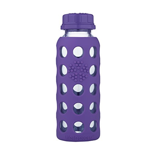 Lifefactory 13821 Glas -Trinkflasche 250ml, royal purple