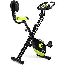 Klarfit X-Bike 700 bicicleta estática plegable (pulsómetro, ordenador de entrenamiento, montaje rápido, resistencia regulable, superficie de apoyo de goma, 100 kg de carga máxima) - negro verde