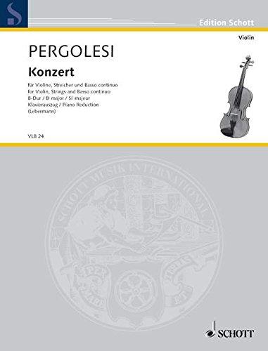 ne, Streicher und Basso continuo. Klavierauszug mit Solostimme. (Edition Schott) ()