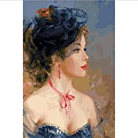 WYTTT Diy Picture Oil Painting By Numbers Paint By Number For Home Decor Canvas Painting 4060 My Lady Frameless,40X66CM