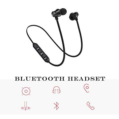 Voiks Auriculares estéreo deportes Bluetooth 4.1 para correr cascos deportivos de manos libre,  Deportes Auricular con Tecnología Correr Running para iPhone,  iPad,  LG,  Samsung y Otros Teléfonos Móviles Android,  color Negro