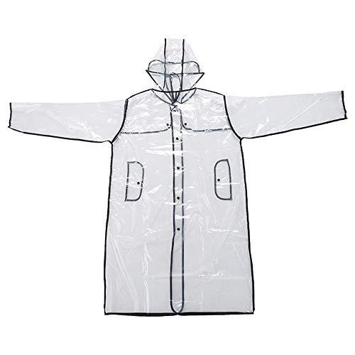 CHshe Mode Frauen Transparent Eva Regenmantel Outdoor Reise Camping Wasserdichte Abdeckung Transparent Regenmantel