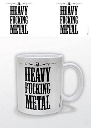 1art1 Set: Musik, Heavy Fucking Metal Foto-Tasse Kaffeetasse (9x8 cm) Inklusive 1x...