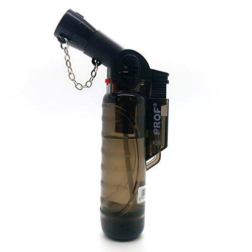 Preisvergleich Produktbild Mini Bunsenbrenner Mehrzweckfeuerzeug Gasbrenner nachfüllbar Sturmfeuerzeug Lötbrenner Flambierer Gas Turbo Jet Flamme Schwarz