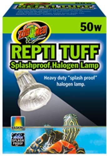 Zoo Med OH-50E Turtle Tuff Halogenlampe, 50 W, für Wasserschildkröten, spritzwasserresistent (Schildkröte Aquarium Lampe)