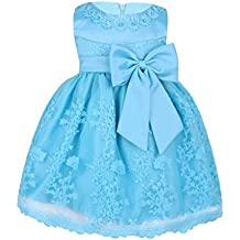 Freebily Vestido Bordado de Princesa Elegante para Niña Bebé Vestido Infantil de Bautizo Fiesta Boda