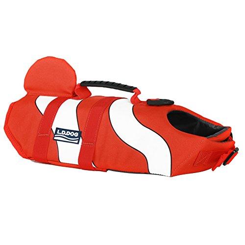 Jeerui Haustier Rettungsweste Schwimmweste Schwimmhilfe Schwimmtraining mit Griff für Hund Dog (Dog Schwimmhilfe)