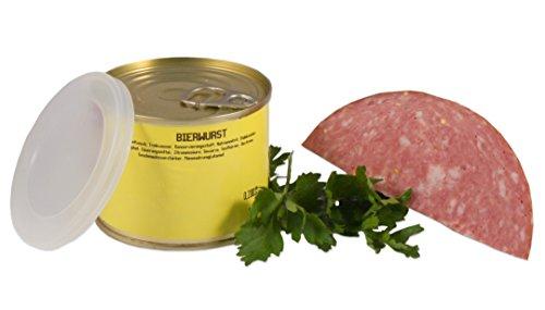 Bayerische Bierwurst in der Dose  Landmetzger Schiessl  ca. 200g