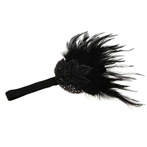 P Prettyia Gastby/Charleston Stil Haarschmuck Haarband Stirnband Kopfband passt an allen Haarstyling...