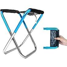 AZX Silla Portátil Plegable, Taburete Plegable de Camping Ligero,Aire Libre Silla Plegable de