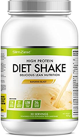Whey Protein Shakes - Stay Fuller For Longer - Burn Fat, Trim & Tone - 27 Essential Vitamins - Metabolism Boosting Ingredients For Rapid Results - Ultra Convenient Meal Replacement Diet Shake For Men & Women - Order Now! (Banana Blast, 907g (30