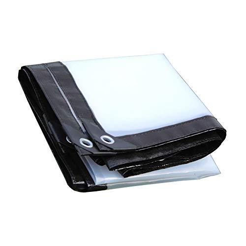 LXF Lona impermeable transparente, lona transparente con ojales, tela de plástico transparente de aislamiento de invernadero 125G / M² (Tamaño : 3MX3M)