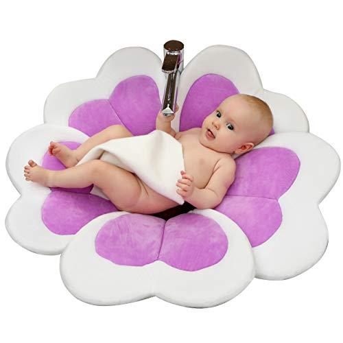 Edith qi Baby BathTub Seat,Nuevo cojín de alfombra de baño de flores,Baño para bañarse,Regalo encantador...