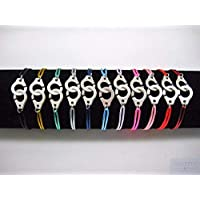 Bracelet menottes sur cordon satin pour Elle & Lui
