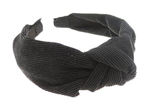 frauen-mdchen-cord-drapierung-top-knoten-kopfband-alice-band-gr-einheitsgre-schwarz