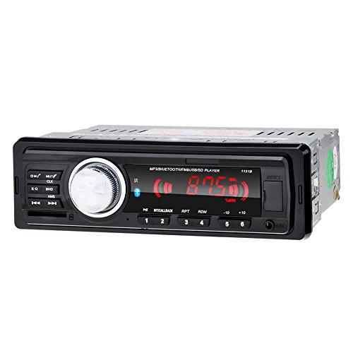 Kingtoys® Autoradio digital Media Receiver mit Bluetooth Freisprecheinrichtung und Abspielfunktion für Smartphone,Handy,MP3-Player,USB Anschluss und SD Kartenslot,4x 60Watt,Aux-Eingang(KT-1131B Schwarz)