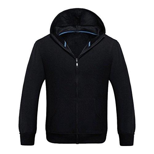 Homme à capuchon manteau, Malloom® Sport Zip polaire chaude à manches longues Pocket Casual veste