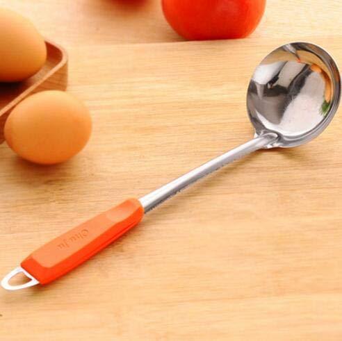 Zoomy Far Zoomy Lontano: 2017 Nuovo Colore Manico di Un Cucchiaio di Acciaio Inossidabile Soup Kitchen Cucchiaio Accessori per la Cucina agitazione Appeso mestolo mestolo: Arancione 2