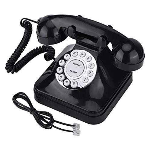 Baoblaze Teléfonos Antiguos Vintage Operación de Una Línea Teléfono Fijo Multifunción