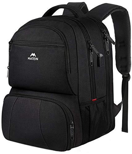 Lunch Tasche, 17 Zoll Laptop Rucksack Schulrucksack Daypack Picknicktasche mit Große Kapazität isolierte Tasche und USB Ladeanschluss für Arbeit Schule und Reise Gehen Lunch Picknick
