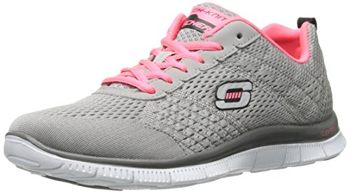 Skechers Flex Appeal Obvious Choice, Sneakers basses femme Gris (lgcl)