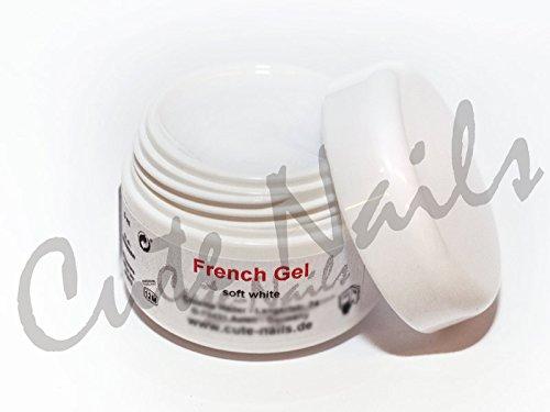 15 ml Gel UV Blanc French Gel Soft White – crémeux couvrante – Cute Nails