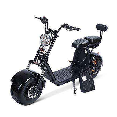 LMJ-XC Harley Elektroauto Skateboard Lithiumbatterie Harley Elektro Walker 60V 1500W Dualbatterie abnehmbare Lithiumbatterie (Elektro-roller 1500w)