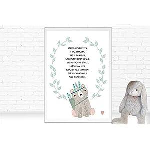 ♥ Poster für's Kinderzimmer mit schönem Spruch und Bär