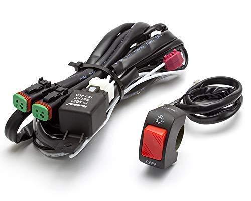 Completo Rotondo/Fendinebbia Cablaggio Kit con On / Interruttore per Motociclette / Moto / Quad