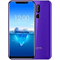 "Telefono Movil [ 2018 ] Oukitel C12 Pro 4G 6.18"" 19:9 Android 8.1 Face ID 2GB RAM 16GB ROM 3300mAh Mobile Phone MT6739 Quad Core Fingerprint Smartphone (Morado)"