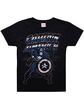 Marvel Captain America Retro, Camiseta para Niños
