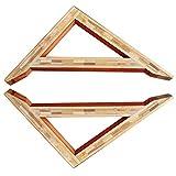 OWUV Massivholz Regalhalterung (2 STK.), Vintage Regalträger, Holz Dreieck Wandhalterung, 2cm Dicker Bambus, an der Wand befestigter Retro Regalhalter, dekoratives Bücherregal, Blumenständer