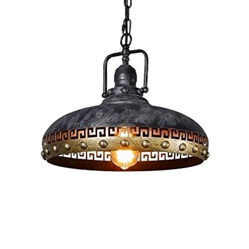 Ktops american retro loft lampada a sospensione ciotola a forma di metallo in ferro battuto luce di soffitto industriale d'antiquariato chandelier per bar ristorante lampada a sospensione e27
