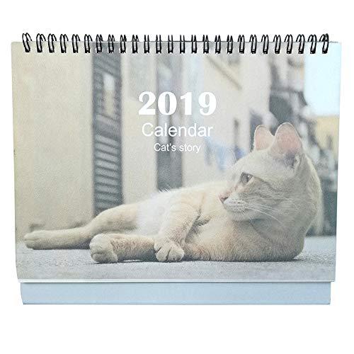 olpchee 2019Schreibtisch-Kalender mothly Cute Cat stehend Wochenplaner Kalender Juli 2018zu DEC 2019groß Größe Cat 1 (2015 Monatskalender Planer)