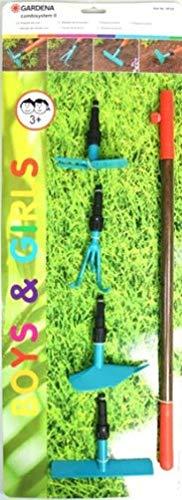 Gardena Gartenset Kinder 5-teilig Gartenwerkzeug Kinderwerkzeug Harke Grubber Pflug