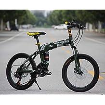 Hycy Bicicleta De Montaña Totalmente Amortiguada, Frenos De Disco De 20 Pulgadas, Bicicleta De