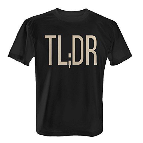 Fashionalarm Herren T-Shirt - TL;DR Too Long Didn't Read | Fun Shirt für Reddit Geeks & Nerds Schwarz