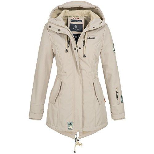 Marikoo ZIMTZICKE Damen Jacke Softshelljacke Winterjacke Regenjacke Outdoor XS-XXL 8-Farben, Größe:S, Farbe:Hellgrau