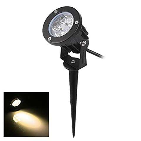 Bloomwin LED Projecteur Lamp, 5W 500LM 220v IP65 Spot LED Éclairage Extérieur à Piquer Projecteur A Planter Blanc Chaud