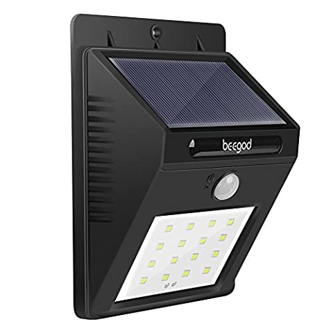 Solar Light, Super Bright 16 LED Outdoor Solar Powered (1 Pack)