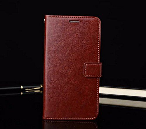 nKarta LeEco Letv 2s Flip Cover, Vintage PU Leather Wallet Book Cover Case for LeEco Letv 2 (Brown)