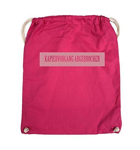 Borse Comiche - Kapiervorgang Aborted - Turn Bag - 37x46cm - Colore: Nero / Rosa Rosa / Rosa