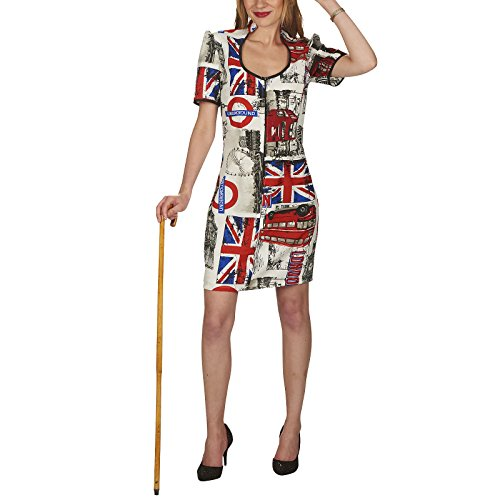 Kleid London Gr. S- L Damen Kostüm London City Nationalkleidung England (40/42)